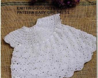 Crochet Pattern for newborn baby dress 0-6 month in pdf files