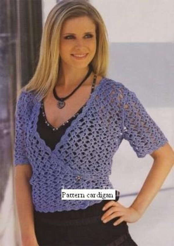 Crochet Patterns For Women s Cardigans : Crochet Woman cardigan Pattern only with written instruction