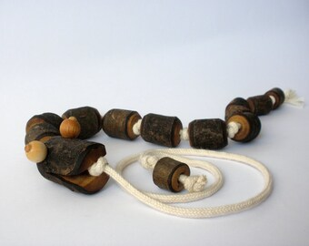 Wooden pull toy  eco friendly - SSSSSNAKE
