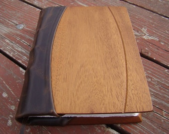 Handmade Wood and Leather Journal with Hemp Paper