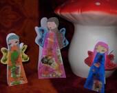 Mixed media paperdolls/fairies/angels Magic  CARDS- Unique-handmade