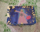 The Star Collector- mixed media wooden box/keepsafe/treasure box/jewelry case/cards case