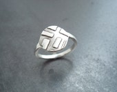 "Sterling Silver ""Hopscotch"" Ring supports ALS research"