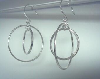 Double Hoops in Fine Silver