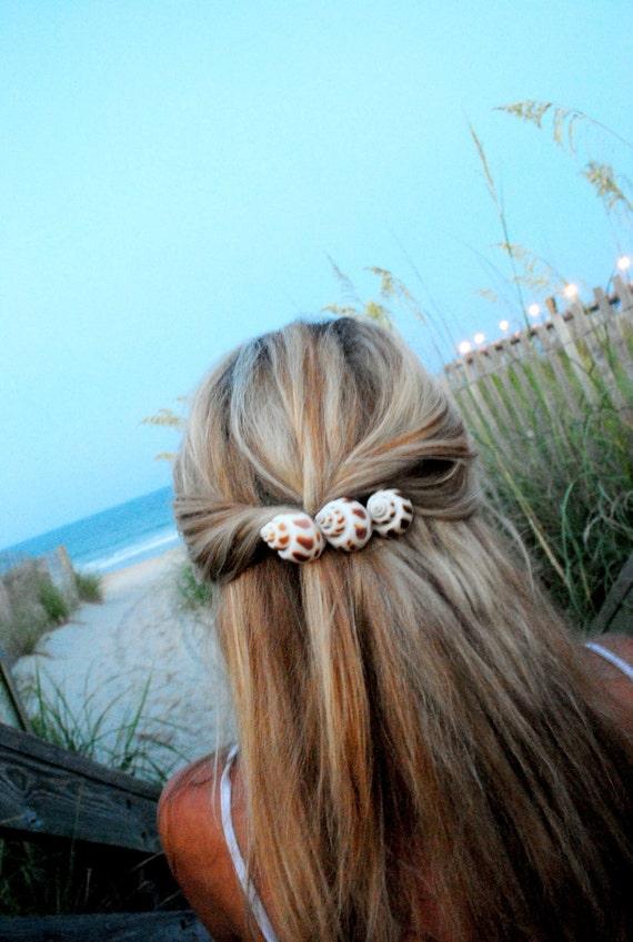 Scotch bonnet seashell french hair clip by chutzpahs on etsy for Seashells for hair