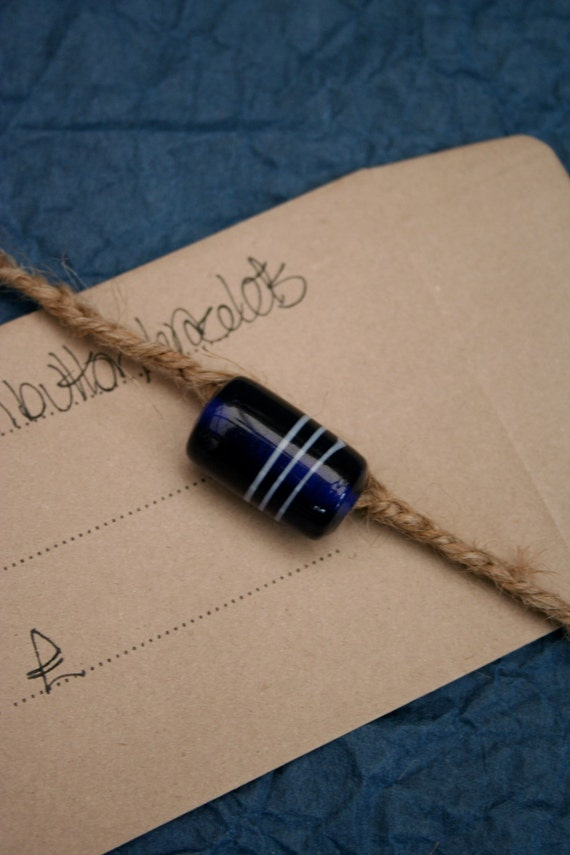 Woven jute wrap-around bracelet