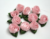 Rosettes - 10 Pieces - Baby Pink