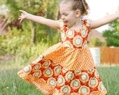 Amy Butler Soul Blossoms Orange Twirl Dress