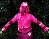 PIXIE HOODY SWEATER  - Elvish Clothing - Pixie In Pink