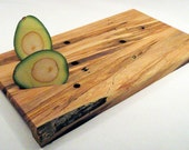 Six-Tapped Spalted Maple Cutting/Cheese Board---Reserved for smisiaszek