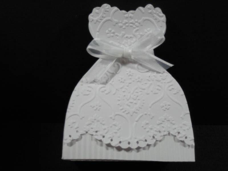 10 Bridal Gown Bride Dress Wedding Favor Boxes Shower