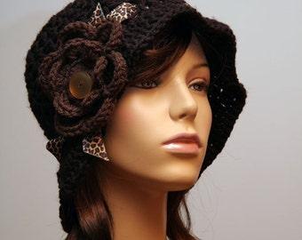 Dark Brown Brim Hat