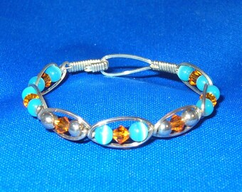 Cats Eyes and Crystals Girls Bracelet