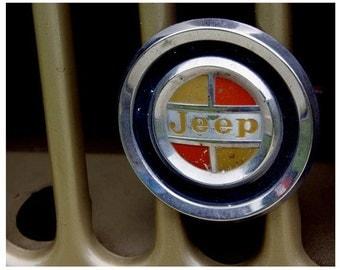 Vintage Jeep radiator emblem Photograph Giclee