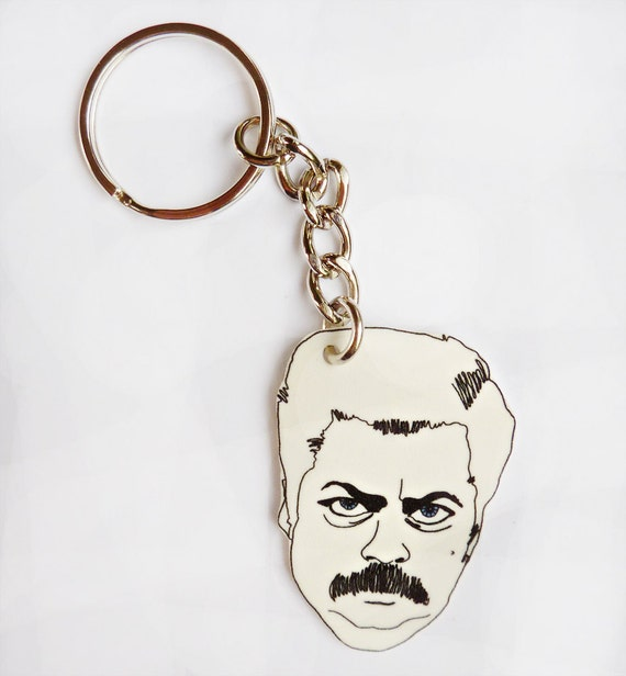 Ron Swanson, Famous quotes Keychains.