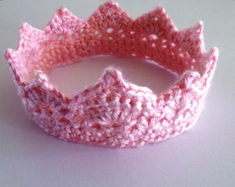 Crochet Photo Prop Newborn Princess Crown