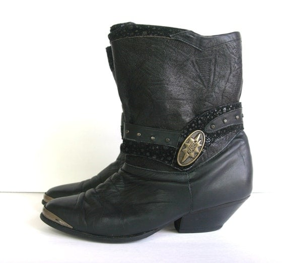 Vtg Western Slouch Boots-- size 7.5