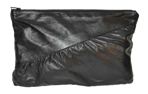 1980s Oversized Awesome Leather Clutch