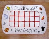 SALE Large rectangular BBQ serving platter