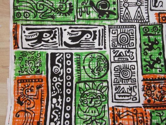 Vintage Aztec Indian Fabric