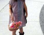Girls Mauve Purple Panel Dress Girls Panel Dress Sizes 6 Months Through 6 Years Available