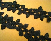 Black Lace Trim -2 Yards Black Special Design Lace Trim (L115)