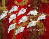 Applique Lace -10 PCS Ivory Leaf Appliques Lace Trim for Wedding Design,Home Decor