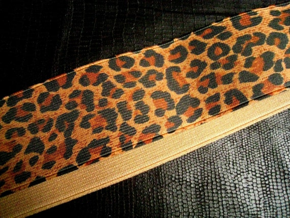Leopard Elastic Trim for Custom Gift, Altered Couture, Home Decor,Waistband