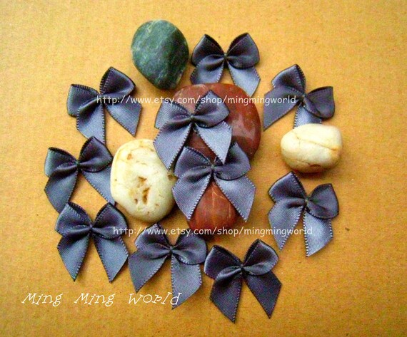 60 PCS Handmake Dark Grey Butterfly Knot for Altered Coutme ,Accessories, Corsage,Gift Installation.(R19)