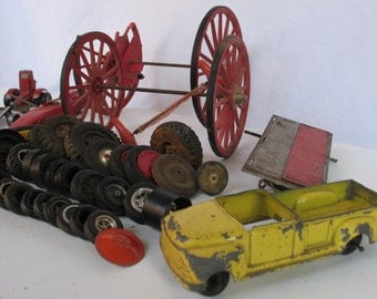 Vintage Toy Car Parts Collection