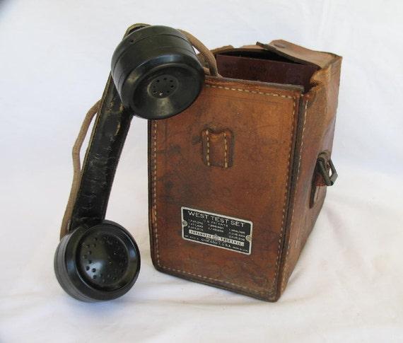 Vintage Linemans Phone West Test Set by Automatic Electric