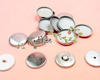 NO.20/24/28/32/36 - 100 Covered Buttons - Regular Mushroom or Flat top - Free Shipping
