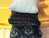 Three of the miniature dollhouse cushions ON SALE.....