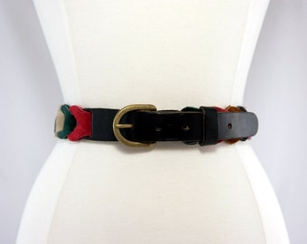 1970s Multi-Colour Suede Belt
