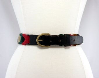 1970s Multi-Colour Suede Belt