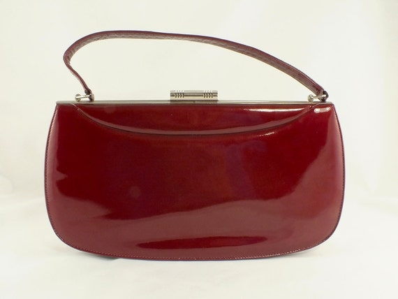 1950s/1960s Deep Red Patent Leather Purse