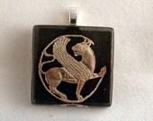 Persian old jewelry, glass pendant