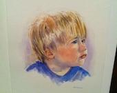 Children's Portraits in Watercolor