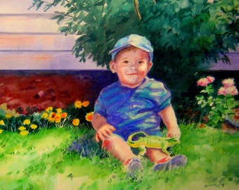 Custom Portraits of Children from Photos