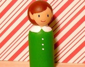 Handpainted Wooden Elf Doll, pick your color