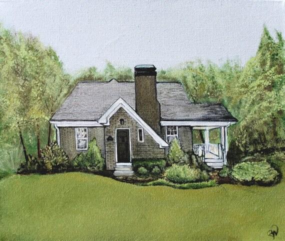 RESERVED LISTING for BISHOP Real Estate Gift Custom House Portrait