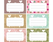 Cute printable gift tags / labels