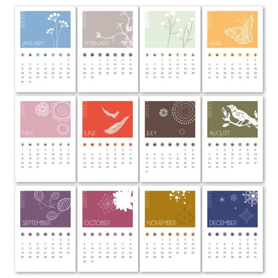 Calendar 2011 Nature (printable)
