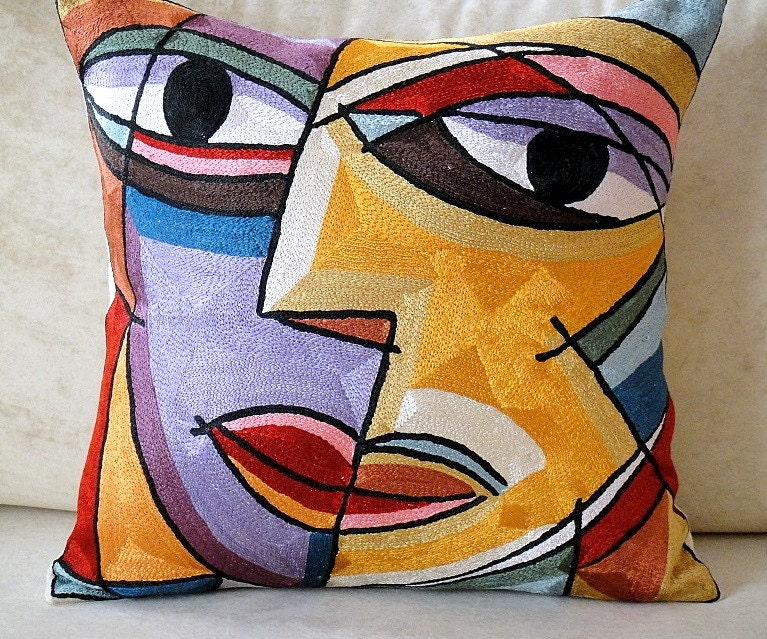 Free Shipping Picasso Decorative Art Throw Pillow Cover