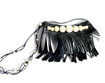 Handmade Recycled Rubber Sling Bag (TL005)