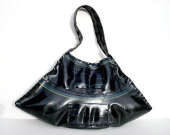 Handmade Recycled Rubber Bag (Urban Roots collection 012)