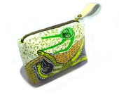 Reverie of Happiness, Hand Painted Bag Wristlet, Kasploy 082