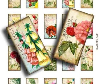 Shabby Chic English Garden Digital Collage Sheet Instant Download Original Whimsical Altered Art by GalleryCat CS10