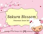 Sakura Blossom- Premade Etsy Shop Banner set