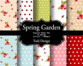 Spring Garden INSTANT DOWNLOAD Digital Paper Set